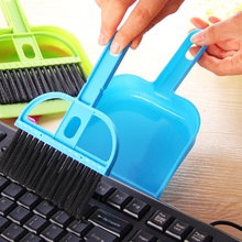 New Mini Desktop Computer Telephone Keyboards Cleaning Ash Brush with dustpan Useful Home Accessories FreeShipping