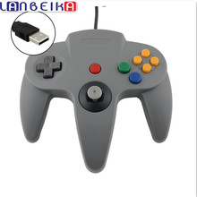 LANBEIKA For Nintendo  High Quality New Style Long Handle Game Controller Pad Joystick for Nintendo for 64 N64 System Black