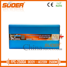 Suoer Pure Sine Wave Inverter 12 Volt 220 Volt 2500W Power Inverter With LCD Display(FPC-2500A)(China)