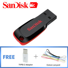 Genuine SanDisk Pendrive 8GB USB Flash Drive 64GB Pen Drive 32GB 16GB Mini USB 2.0 Memory Stick 128GB Support Official Testing