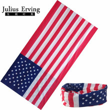 Julius Erving 1pcs/Lot American Bandana Flag Usa Men Motorcycle Scarf Paisley Bandana Headwrap Magic Headband(China)
