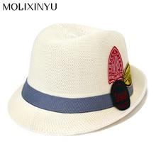 MOLIXINYU Baby Girls Boys Straw Wide Brim Sun Hat Cool Kids Summer Western  Cowboy Hat Children Cap For Boys Girls 56e6414c2275