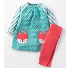 Baby Girls Clothes Children Clothing Sets 2017 Brand Kids Tracksuits for Girls Sets Animal Pattern Baby Girl School Outfits(China)