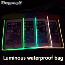 Wangcangli waterproof case for phone Samsung underwater light box GALAXY NOTE 5 4 3 2 A5 A7 J5 J7 rear cover for iPhone 6S 6sp()