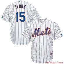 MLB Men's New York Mets Tim Tebow Baseball White Home Cool Base Player Replica Jersey(China)