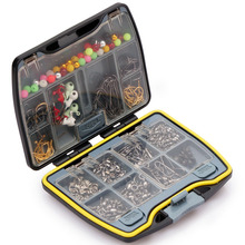 Brand Fishing Tackle Boxes Accessories Set china Barrel Swivels Snaps Spilt Beads Jigs Hooks Sinker Fishhook Connector Kit