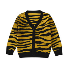 MUQGEW 2017 Childrens Sweater Single Breasted Leopard Print Baby Girls Boys Cardigan Sweaters Cotton Tiger Print Knitted Girl(China)