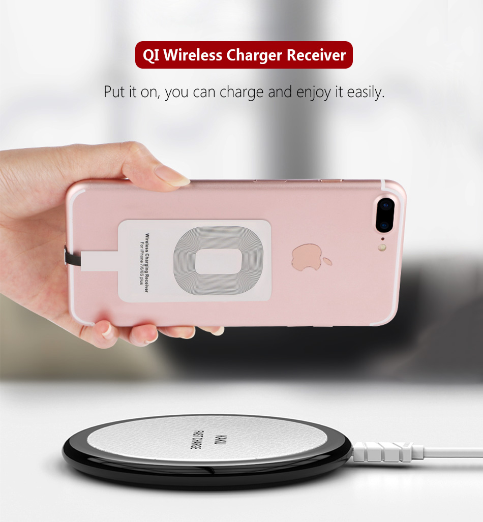 Portable Mobile Wireless Charger Receiver For iPhone 5 6 7 Plus Samsung 5V 1A Universal Micro Type-C Smartphone Qi Fast Charging 3