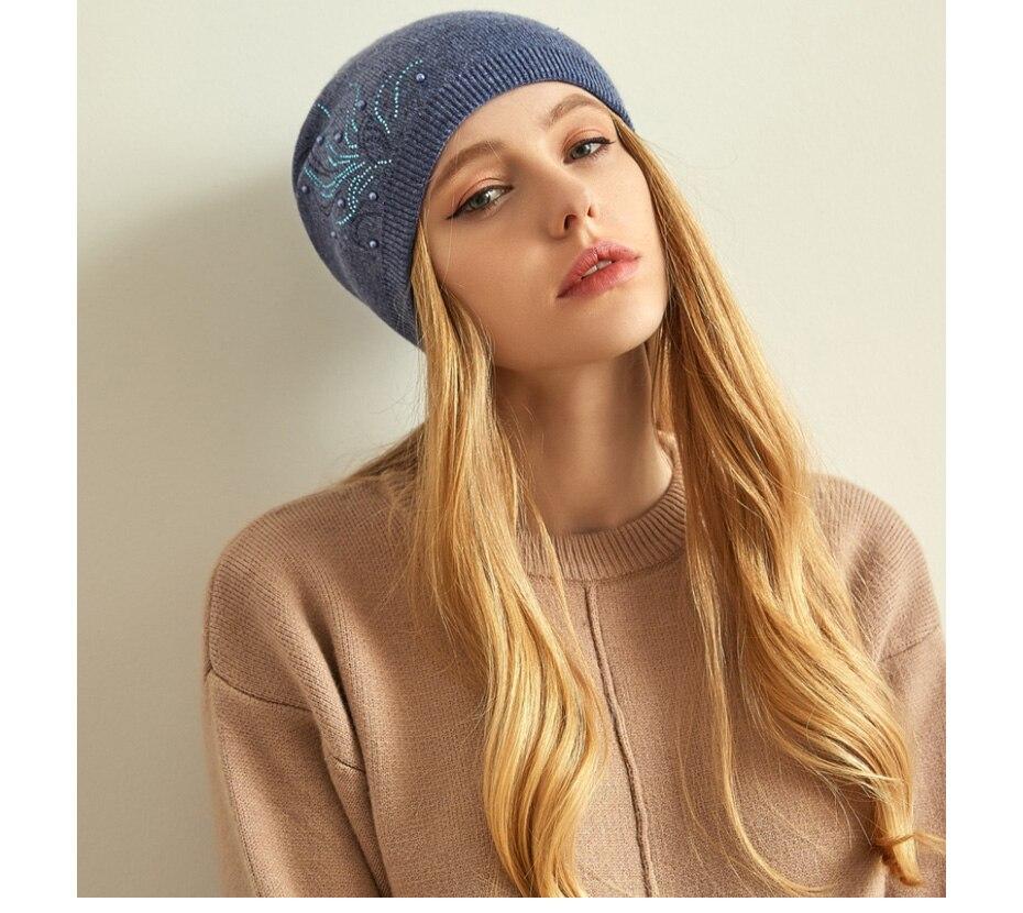 قبعات صوف للنساءبالوان متعددة 20