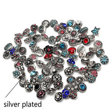 Buy new 50pcs/lot Mixed Colors & pattern 12mm Glass snap button Jewelry Faceted glass Snap Fit snap Earrings Bracelet Jewelry for $6.29 in AliExpress store
