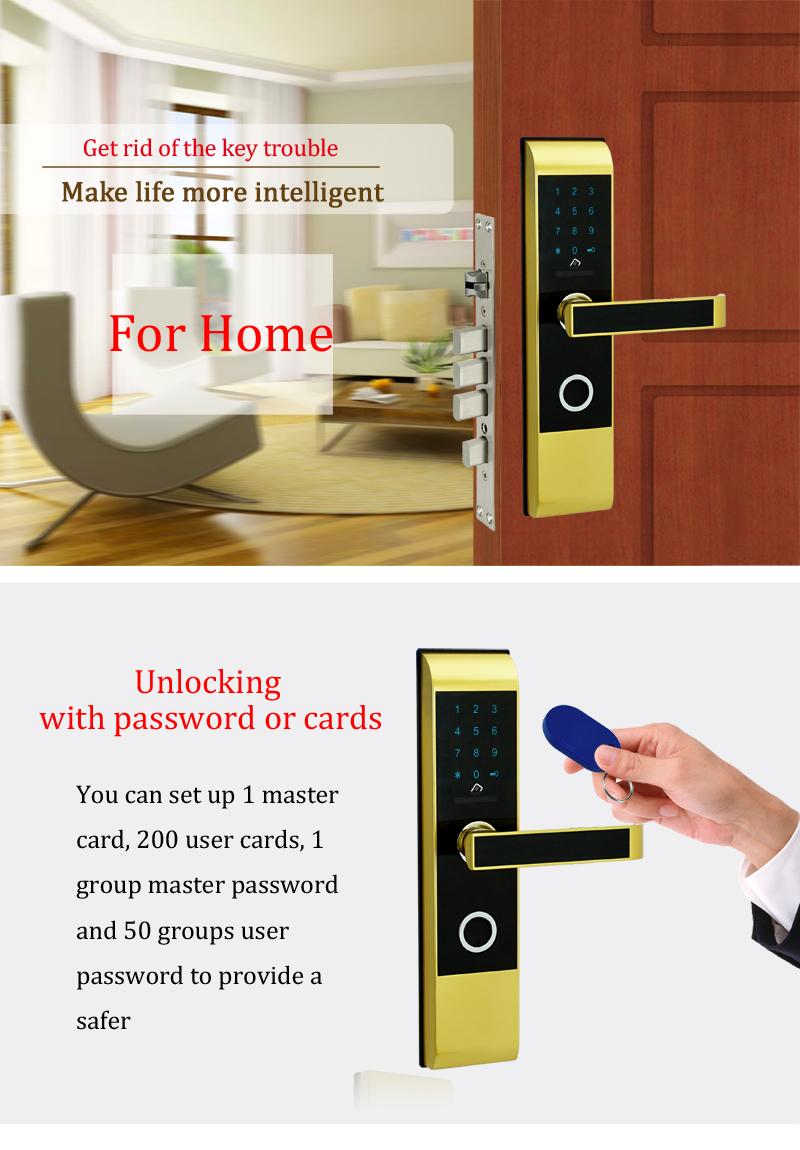 smart combination door lock