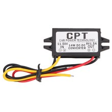 11-50V to 9V 1.5A Max Male Power Converter CPT Car Power Supply Step Down Regulator Module Waterproof car accessories(China)