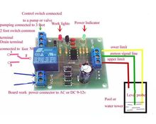 Free tracking number :  Liquid Level Controller Module Water Level Detection Sensor 9V-12V AC/DC