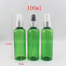 100ml plastic perfume Bottle with spray pump ,empty PET Cosmetics Packaging toilet water bottle ,100cc sprayer frasco de perfume