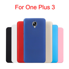 One plus 3 phone cover protective case Oneplus three ultra-thin matte frosted Hard Back 7 colors Pouch Bags Discount(China)