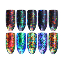 5 Colors Chameleon Cloud Paillette Rainbow Starry Glitter Powder 0.2g Irregular Nail Art Sequins Flakies Galaxy Coral Decoration