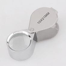 10X Jeweler Loupe Magnifier 21mm lens Magnifying glass Microscope for Jeweler Diamonds Handhold Portable Fresnel lens(China)