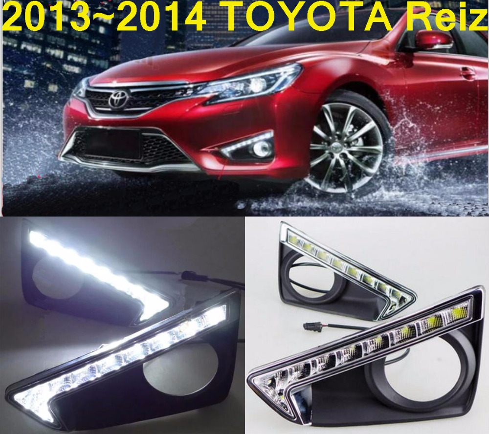 car-styling,2014~2016 Reiz daytime light,led,2pcs/set,Reiz fog light;car-covers,MarkX,chrome, Reiz,Mark X<br>