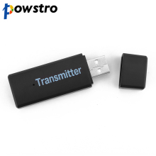 Powstro 2.4GHz Blutooth Wireless Transmitter For Car Music Audio Bluetooth Receiver Adapter 3.5mm A2DP For Headphone Reciever(China)