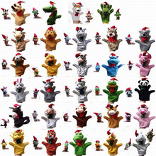 Retail 29 Animals Christmas Hand Puppets Finger Puppet Set Xmas Muppets For Baby Kids Toy Story Talking Props Multiple Optionals
