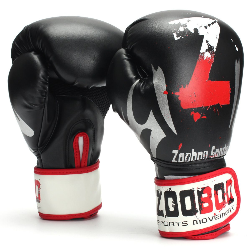 MMA / Thai Fight Black Boxing Gloves 1 Pair For Body building