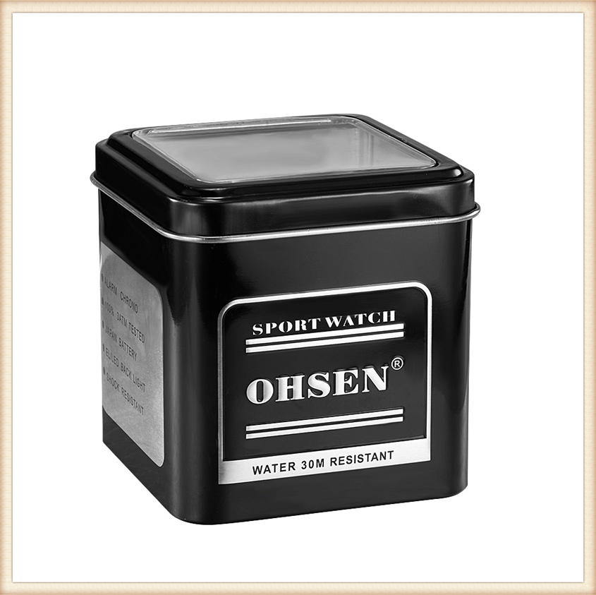 1PCS Fashion 100% Original OHSEN Watch Boxes Good Quality Protect Watch Metal Gift Box Freeshipping with OHSEN LOGO Dropshipping (21)