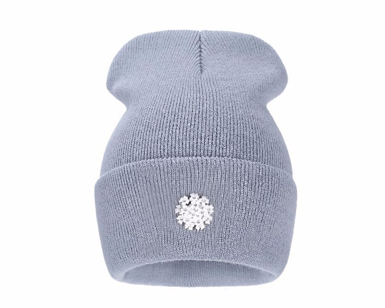 Ralferty New Fashion Lovely Knitting Wool Acrylic Beanies Hip Hop One Flower Hats for Women Gorros Bonnets Caps Woman Floral Cap 2
