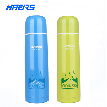 Haers Thermos Water Bottle 500ml Food Grade Durable Stainless Steel Insulated HB-500AD 2015 New Arrival