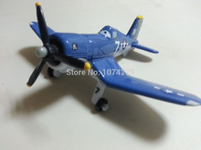 Disney Pixar Planes No.7 Skipper Metal Diecast Toy Plane 1:55 Loose New In Stock & Free Shipping(China)