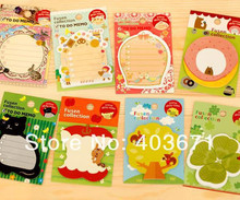 Cute cartoon & romantic style notepad paper sticky message note Memo pad