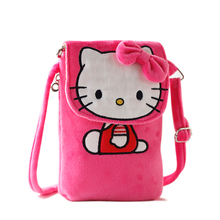 New Cartoon Hello Kitty Messenger Bag Women Mini Shoulder Bags Female Plush Crossbody Bag For Girls Children Sac A Main B066