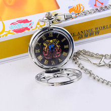 Trendy fashion quartz pocket watch animation tutor theme engraved pocket watch Peng Geling family badge with new box