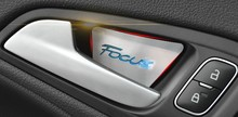 Auto Door Inner Bowl Sticker interior moulding for ford focus 2015 ,aluminum alloy.4pcs/lot, free shipping