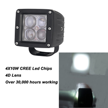 1pc 40 Watts LED Bumper Driving Work Light 12v 24v Off road UTV 4wd Truck Lamp 3600LM Spot Beam IP67 Led Daytime Running Light
