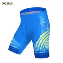 F WOSAWE Men's Sky Blue Cycling Shorts Mountain Bike Riding Short Breathable Bicycle Cycle Fietsbroek Corti Ciclismo Underwear