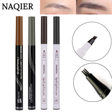 NAQIER 3 colors microblading eyebrow tattoo pen Tint Natural Long Lasting Tattoo Eyebrow Waterproof Brown Eyebrow Pencil Makeup(China)