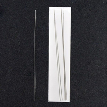 DoreenBeads Big Eye Curved Beading Needles Easy Thread 125x0.6mm,sold per pack of 6(China)