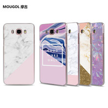 MOUGOL grunge marble pink weird hard clear Phone Case for Samsung Galaxy J710 J7 J5 2017 J510 J2 Prime J3 J1 2016(China)