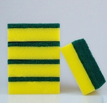 Square Two side effect sponge scouring pad, kitchen dishwashing sponge scourer,promotional cellulose kitchen cleaning sponge