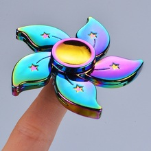 New Fidget Spinner Rainbow Metal Handspinner Star Flower Spinners Funny Colorful Spin EDC Gyroscope Designer Toy Anti Stress Kid(China)