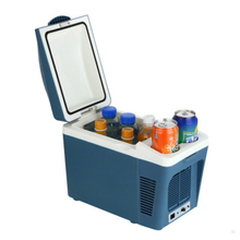 7L thermoelectric car fridge portable fridge single door car cooler thermoelectric cooler box blue gray(China)