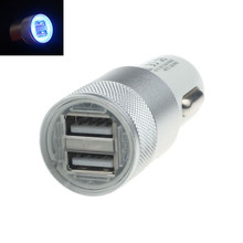 Universal Car Aluminum LED 12V To 5V USB Charger For iphone Cellphone SV(China)