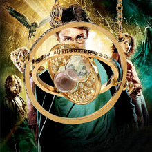 2017 Time Turner Necklace Jewelry Gold Color Necklaces for Women HP Necklace Hermione Granger Rotating Spins Hourglass