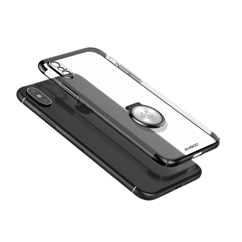 Luxury Clear Ring Holder Case For iphone X 10 Xundd Hard PC back Cover For iphone X case capa work with Magnetic car holder 4