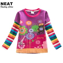 Buy Retail Children t Shirts Kids Flower t-shirt Girls Stripe Long Sleeve T Shirt Child Clothing Neat Kids Shirts L328 Mix for $5.70 in AliExpress store