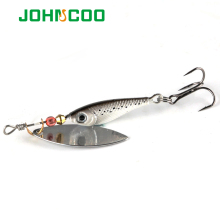 JOHNCOO 4pcs Spinner Bait 12g 15g 20g Spinners Fishing Lure Longcast Artificial Bait Metal Spoon isca Artificial Bait(China)