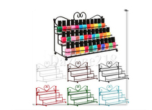 LAN LIN Nail Polish Shelf Cosmetic Varnish Display Stand Rack Holder Black Metal Nail Polish Rack / Makeup Storage four color