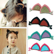 Free Shipping 10 Pcs/Pair Rabbit Ear Hairpin Girls' Hair Clips Kids Hair Accessories(China)