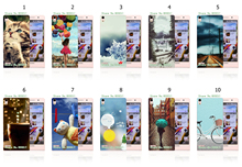 vcustom Amazing Ultrathin Hot Cartoon colorful design print back cover white hard cases for Huawei Ascend P6(China)