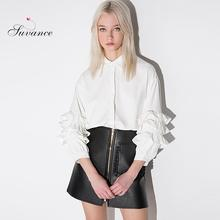 Suvance Autumn New Fresh Layers Butterfly Sleeves Loose All Match Shirts Fashion Casual Quality Brand Euro Style E689